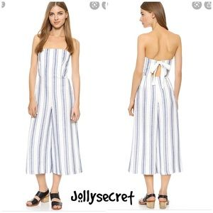 New Club Monaco Simonetta striped jumpsuit